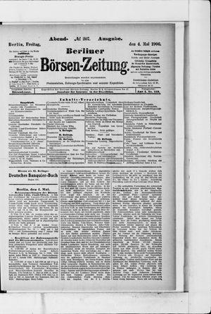 Berliner Börsen-Zeitung vom 04.05.1906