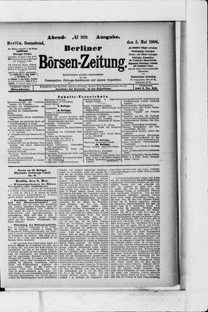 Berliner Börsen-Zeitung vom 05.05.1906