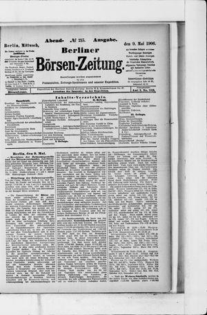 Berliner Börsen-Zeitung vom 09.05.1906