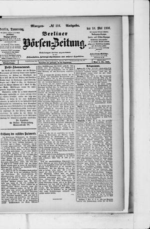 Berliner Börsen-Zeitung vom 10.05.1906