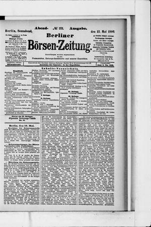 Berliner Börsen-Zeitung vom 12.05.1906