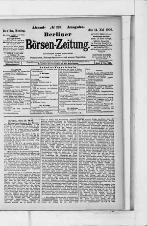 Berliner Börsen-Zeitung vom 14.05.1906