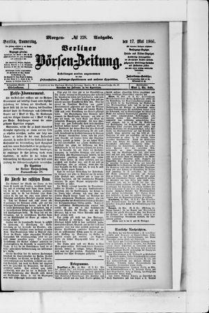 Berliner Börsen-Zeitung vom 17.05.1906