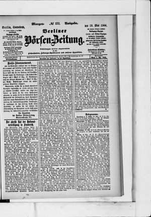 Berliner Börsen-Zeitung vom 19.05.1906