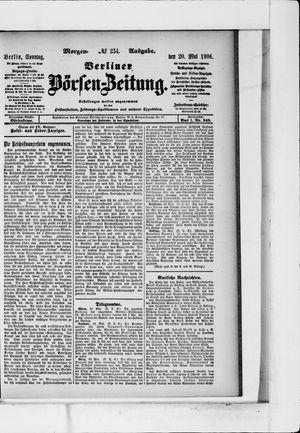 Berliner Börsen-Zeitung vom 20.05.1906