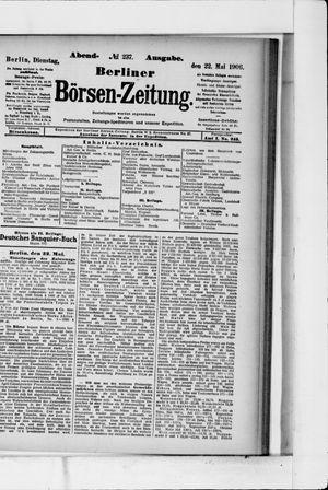 Berliner Börsen-Zeitung vom 22.05.1906
