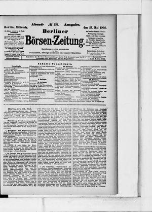 Berliner Börsen-Zeitung on May 23, 1906
