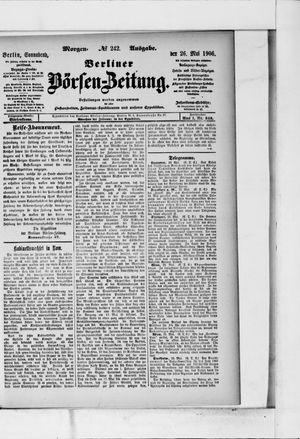 Berliner Börsen-Zeitung vom 26.05.1906