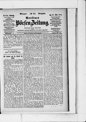 Berliner Börsen-Zeitung vom 27.05.1906