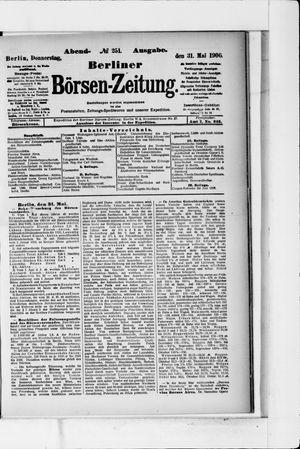 Berliner Börsen-Zeitung vom 31.05.1906