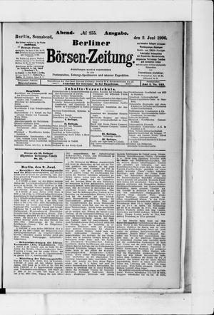 Berliner Börsen-Zeitung vom 02.06.1906