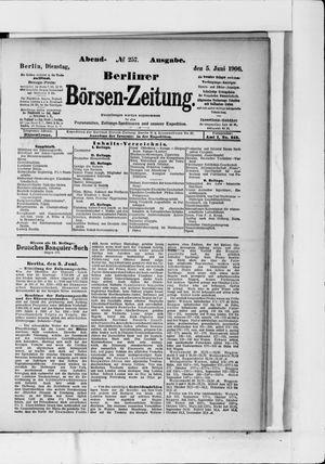 Berliner Börsen-Zeitung vom 05.06.1906