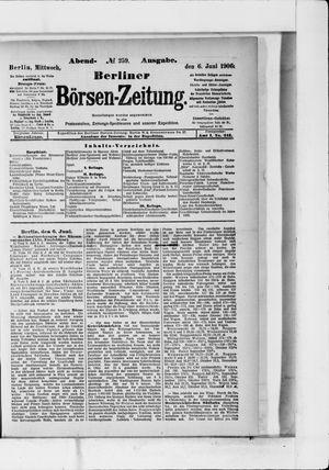Berliner Börsen-Zeitung vom 06.06.1906