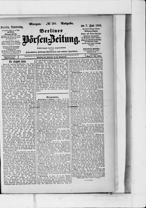 Berliner Börsen-Zeitung vom 07.06.1906