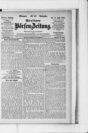 Berliner Börsen-Zeitung vom 10.06.1906