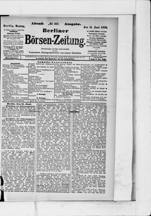 Berliner Börsen-Zeitung vom 11.06.1906