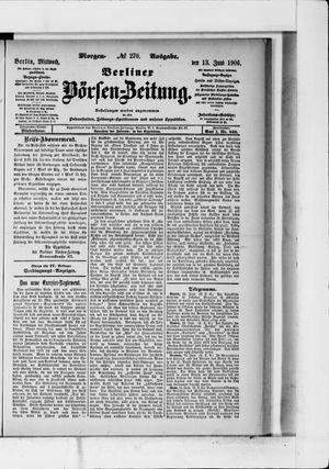 Berliner Börsen-Zeitung vom 13.06.1906