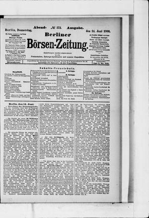 Berliner Börsen-Zeitung vom 14.06.1906