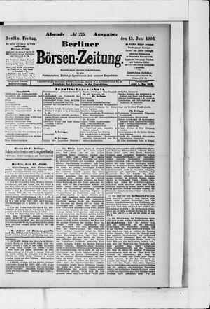 Berliner Börsen-Zeitung vom 15.06.1906