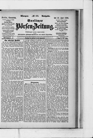 Berliner Börsen-Zeitung vom 16.06.1906