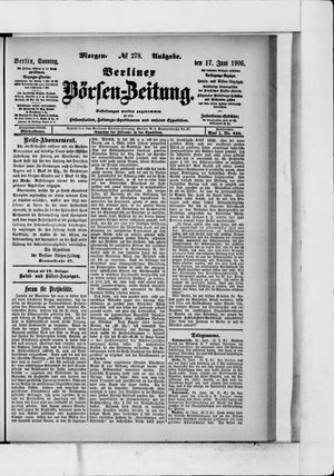 Berliner Börsen-Zeitung vom 17.06.1906