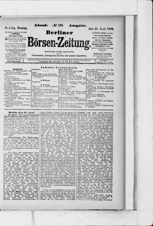 Berliner Börsen-Zeitung vom 18.06.1906