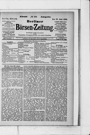Berliner Börsen-Zeitung vom 20.06.1906