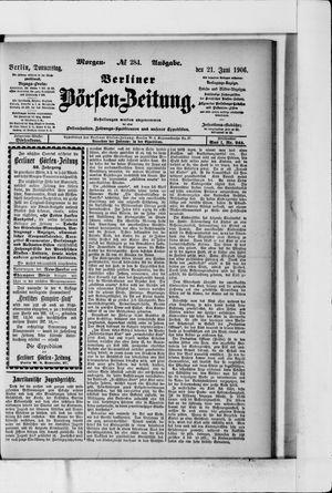 Berliner Börsen-Zeitung vom 21.06.1906