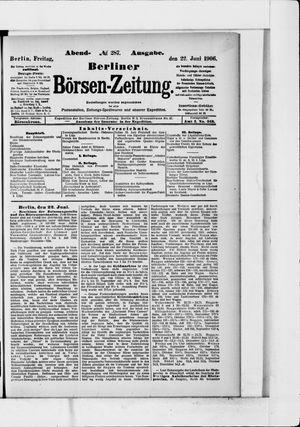 Berliner Börsen-Zeitung vom 22.06.1906