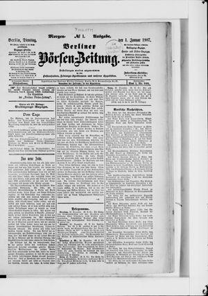 Berliner Börsen-Zeitung vom 01.01.1907