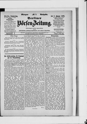 Berliner Börsen-Zeitung vom 03.01.1907