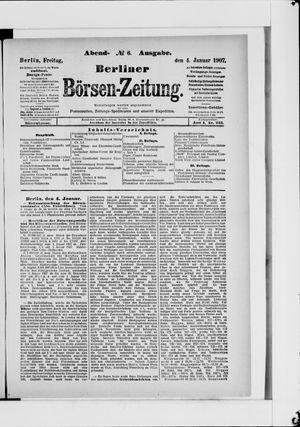 Berliner Börsen-Zeitung vom 04.01.1907