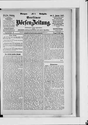 Berliner Börsen-Zeitung vom 06.01.1907