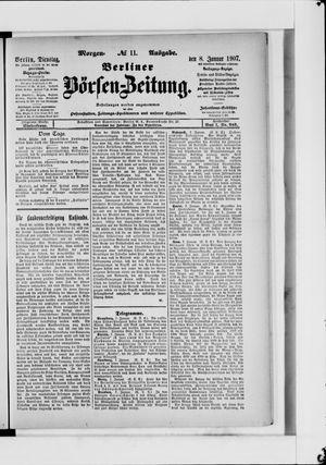 Berliner Börsen-Zeitung vom 08.01.1907