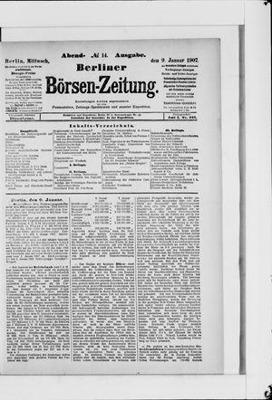 Berliner Börsen-Zeitung vom 09.01.1907