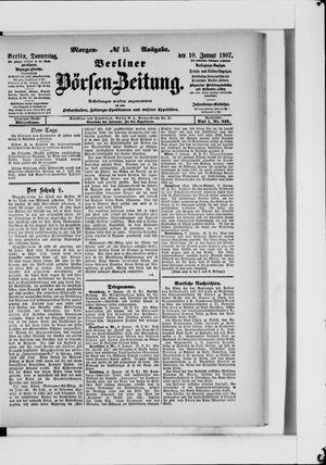 Berliner Börsen-Zeitung vom 10.01.1907