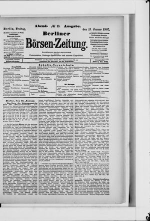 Berliner Börsen-Zeitung vom 11.01.1907