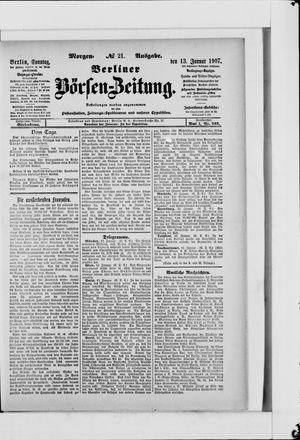 Berliner Börsen-Zeitung vom 13.01.1907