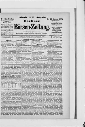 Berliner Börsen-Zeitung vom 14.01.1907