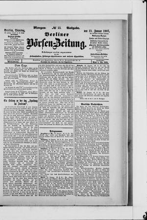 Berliner Börsen-Zeitung vom 15.01.1907