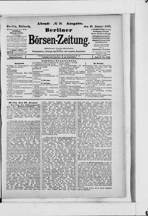 Berliner Börsen-Zeitung vom 16.01.1907
