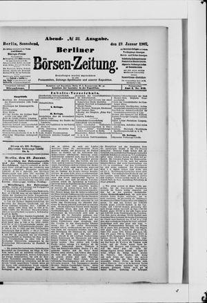 Berliner Börsen-Zeitung vom 19.01.1907