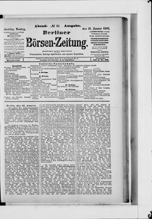 Berliner Börsen-Zeitung vom 21.01.1907