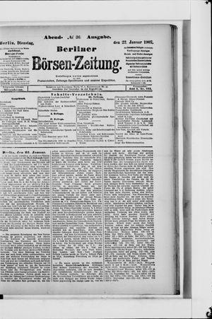 Berliner Börsen-Zeitung vom 22.01.1907