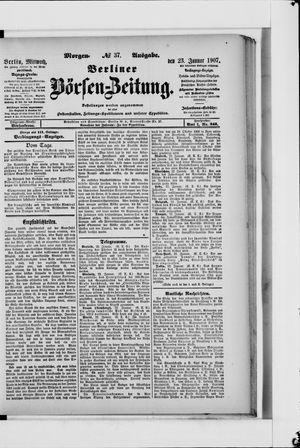 Berliner Börsen-Zeitung vom 23.01.1907