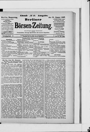 Berliner Börsen-Zeitung on Jan 24, 1907