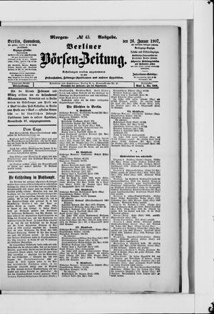 Berliner Börsen-Zeitung vom 26.01.1907