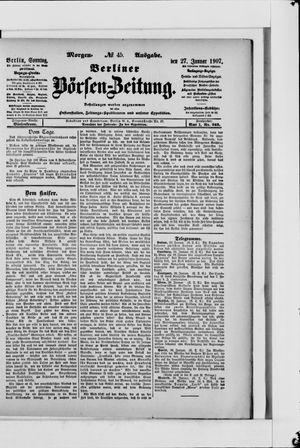 Berliner Börsen-Zeitung vom 27.01.1907