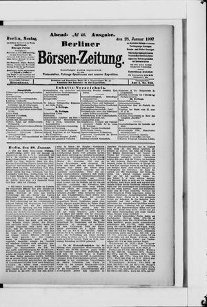 Berliner Börsen-Zeitung vom 28.01.1907