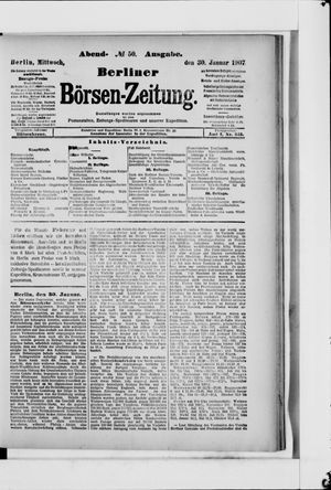 Berliner Börsen-Zeitung vom 30.01.1907